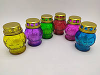 Лампадка стеклянная со свечой