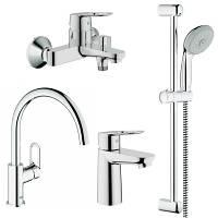 Набор смесителей для душа, ванны, кухни Grohe BauLoop 123225K