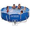 INTEX 28202 КРУГЛЫЙ КАРКАСНЫЙ БАССЕЙН ( 305 x 76 см.) + фильтрующий насос