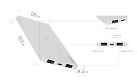 Портативная батарея ERGO LP-91, 5000 mAh White (Power Bank)