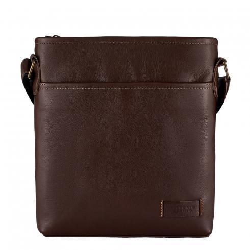 Мужская сумка из натуральной кожи фирмы Vittorio Safino, коричневая VS013