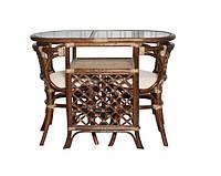 Мебель из ротанга. Комплект 2 стула и стол. шоколадный