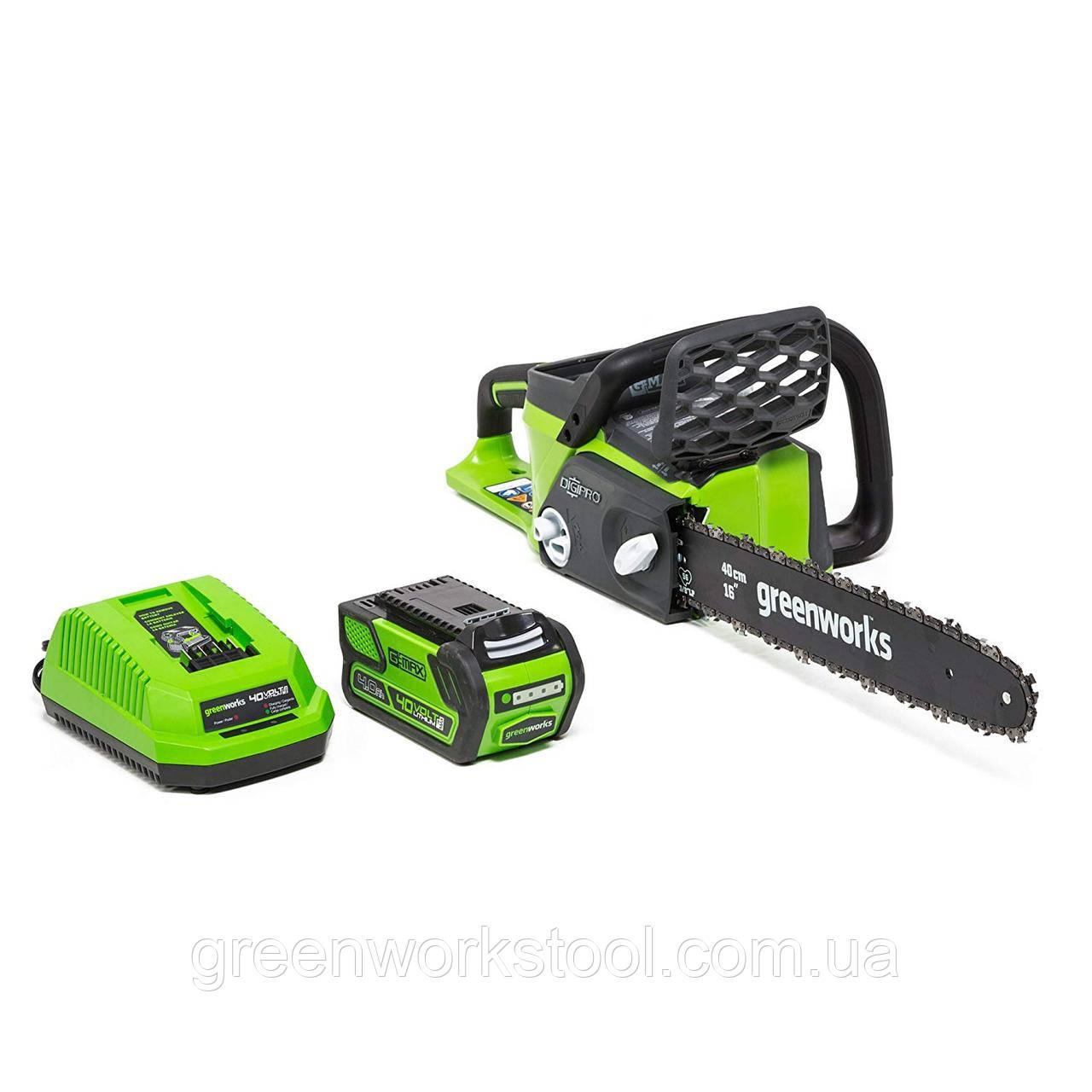 Аккумуляторная цепная пила GreenWorks GD40CS40K4 G-MAX 40V  DigiPro GD40CS40K4 (20312)