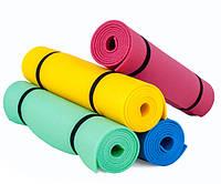 Каремат для фітнесу та йоги, синьо-жовтий, т. 10 мм, розмір 60х180 см, виробник Україна, TERMOIZOL®