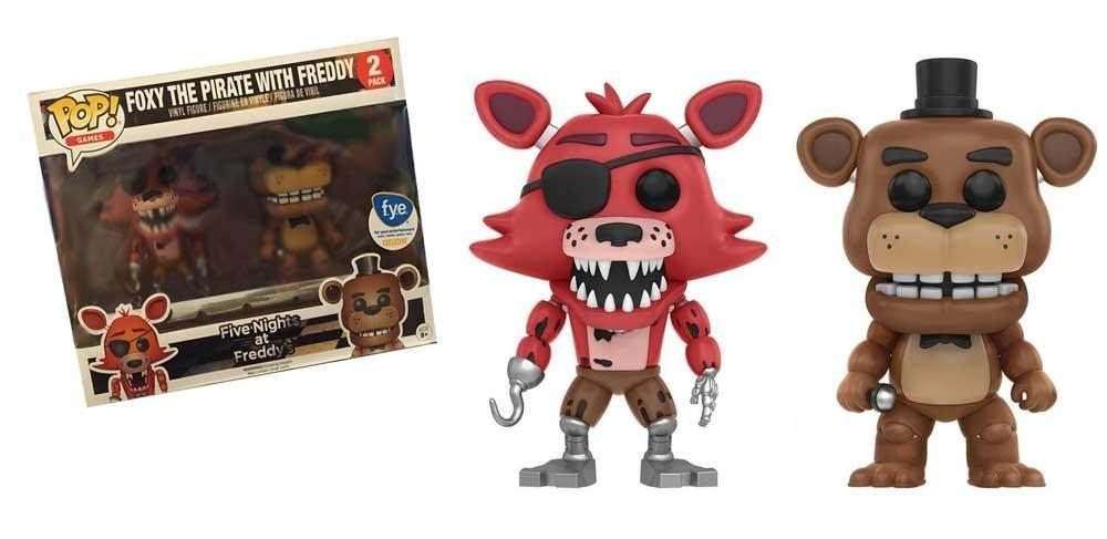 Фигурки 5 ночей с Фредди Funko POP Five Nights at Freddy's Foxy the Pirate Fox with Freddy Fazbear