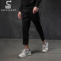 Спортивные штаны с полосой мужские ТУР Cage черные