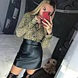 Шифоновая блуза с леопардовым принтом, фото 4