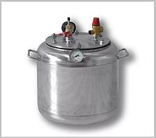 Автоклав А 16 газ ( 7 банок- 1л 16 банок-0,5 л) из нержавеющей стали
