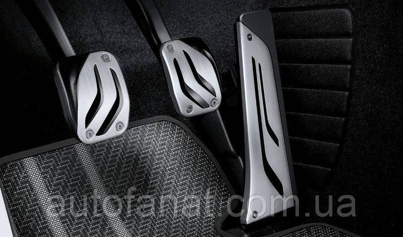 Оригинальный комплект накладок на педали из нержавеющей стали BMW M Performance для  BMW 3 (F30) (35002232276)