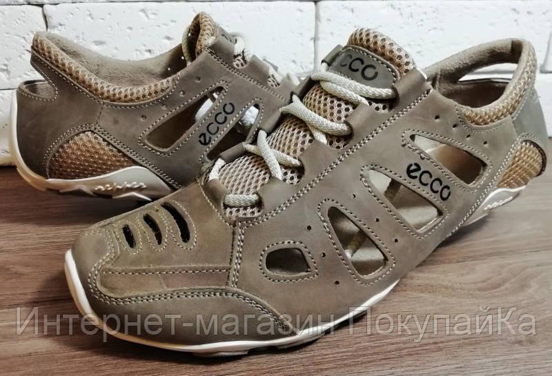 5a4cacbb2 Мужские натуральная кожа Летние кожаные кроссовки в стиле Ecco (model:  D-011)