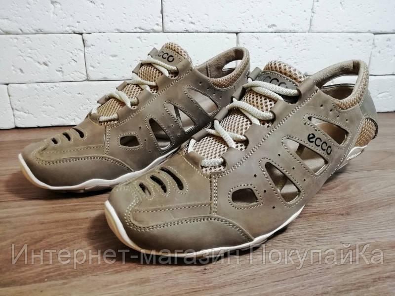 910fa84ba ... Мужские натуральная кожа Летние кожаные кроссовки в стиле Ecco (model:  D-011) ...