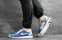 Мужские кроссовки найк в стиле Free Run 5.0 сині з білим