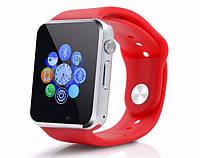 Умные наручные часы A1 Turbo Red. Смарт часы с камерой и сенсорным экраном