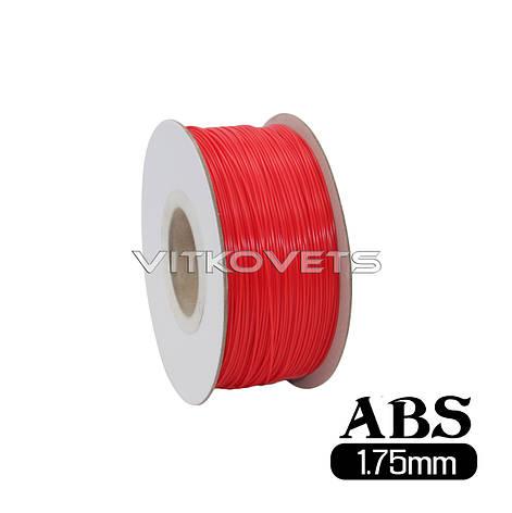 Пластиковая нить ABS, 1.75 мм, 1 кг (красный), фото 2