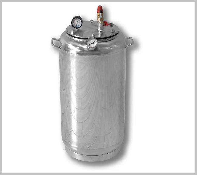 Автоклав А 32 газ ( 21 банок- 1л 32 банок-0,5 л) из нержавеющей стали