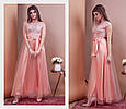 Платье-макси женское модное стильное с поясом размер 44-48, купить оптом со склада 7км Одесса, фото 2