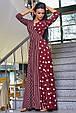 Красивое молодежное платье 3377 марсала горох-полоска (S-3XL), фото 3