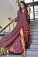 Красивое молодежное платье 3377 марсала горох-полоска (S-3XL), фото 4