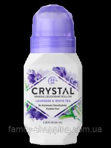 Натуральный роликовый дезодорант Кристалл с экстрактами лаванды и белого чая, 66 мл