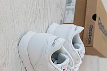 Женские кроссовки Reebok Classic Leather White 50151, оригинал, фото 3