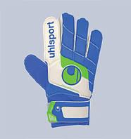 Перчатки вратарские FANGMASCHINE STARTER SOFT BLUE, 100044301, бел/син/зел, 7