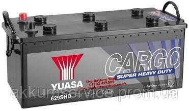 Аккумулятор грузовой YUASA Cargo Super Heavy Duty 180 AH 1050A Euro (629SHD)