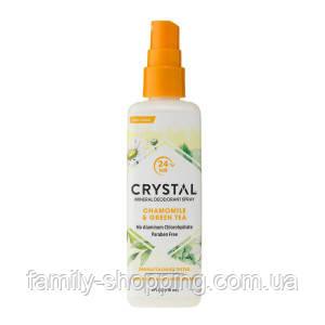 Натуральный дезодорант-спрей для тела Кристалл с экстрактами ромашки и зеленого чая, 66 г (США)