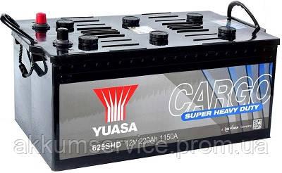 Аккумулятор грузовой YUASA Cargo Super Heavy Duty 220 AH 1150A Euro (625SHD)