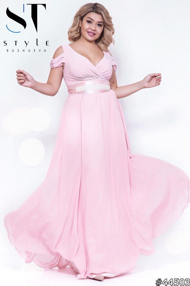 Великолепное женское вечернее платье с шикарным декольте 48-52р.(8расцв)