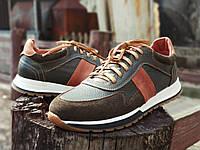 Мужские кожаные туфли кеды ROKA