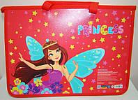 Портфель пластиковый на молнии CFS Princess A4, 2 отделения