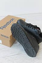Женские кроссовки Reebok Classic Leather Black 50149, оригинал, фото 2