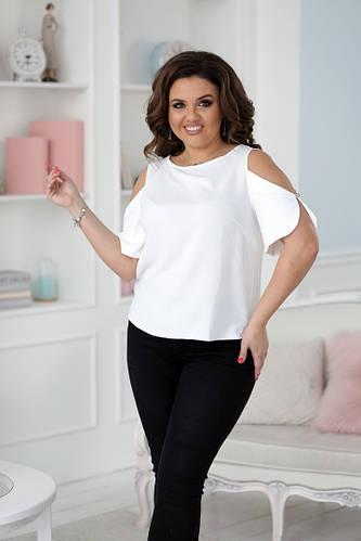 4df162356407445 Модная батальная блуза с открытыми рукавами: продажа, цена в Одессе. блузки  и туники женские от
