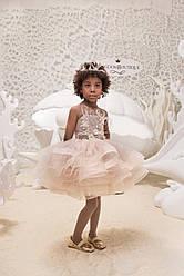 Платье детское нарядное нежное с пышной юбкой.