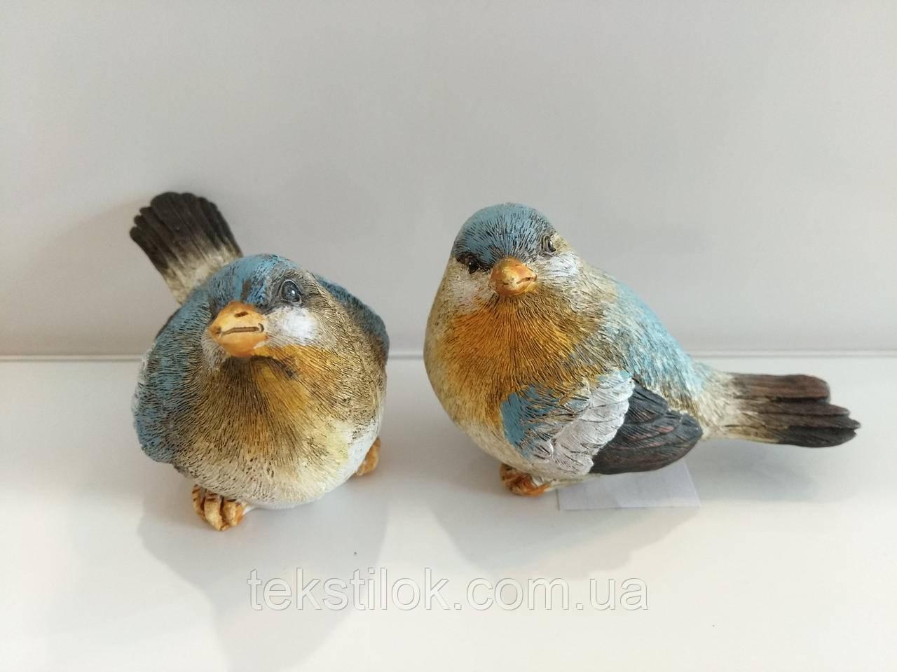 Птичка   голубая 9 см. - керамика