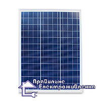 Сонячна панель AXIOMA energy AX-50P (полікристал, 4 bb)