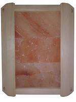 Ограждение угловое GREUS с гималайской солью 3 плитки для бани и сауны