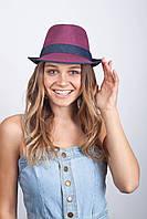 Фиолетовая женская шляпа