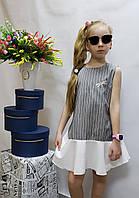 Модное  платье для девочки  код 803  лето , размеры на рост от 134 до 152 возраст от 6 до 10 лет, фото 1