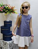 Модное  платье для девочки  код 803  лето , размеры на рост от 134 до 152 возраст от 6 до 10 лет