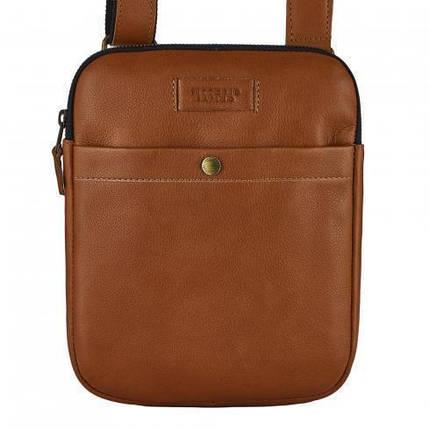 Мужская сумка, планшетка из натуральной кожи фирмы Vittorio Safino, фото 2
