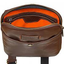 Мужская сумка, планшетка из натуральной кожи фирмы Vittorio Safino, фото 3