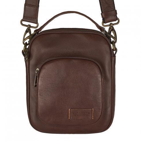 3d8af7f6ad83 Мужская кожаная сумка Vittorio Safino (барсетка, планшетка через плечо из натуральной  кожи) Коричневая