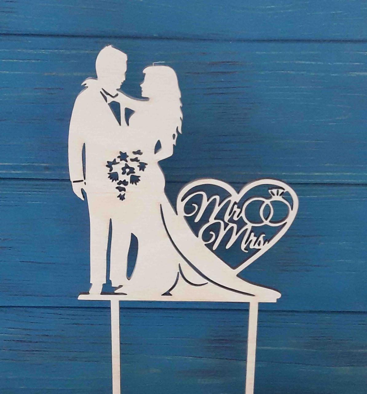 Свадебный топпер. Mr & Mrs