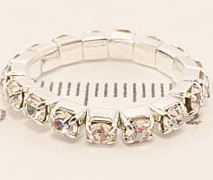 "Кольцо ""Свадьба кристаллы на резинке"" ø 2 см, 6 шт в упаковке"