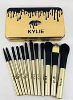 Набор кистей Kylie 12шт для макияжа Кайли (Kylie)
