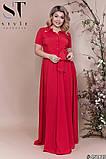 Элегантное женское летнее платье длинное в пол 48,50,52р.(7расцв), фото 4