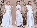 Элегантное женское летнее платье длинное в пол 48,50,52р.(7расцв), фото 9