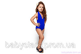 """Детский купальник на девочку """"Адель"""", синий"""