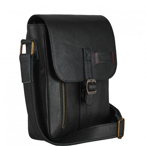 Мужская сумка из натуральной кожи Vittorio Safino черная VS 001
